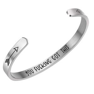 Personalized Bracelet Inspirational Gifts Message